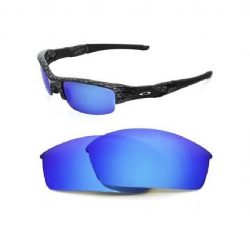 NEW POLARIZED CUSTOM ICE BLUE LENS FOR OAKLEY FLAK JACKET SUNGLASSES